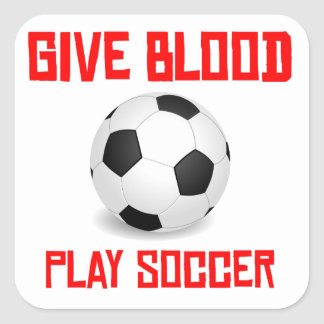 Give Blood Play Soccer Stickers