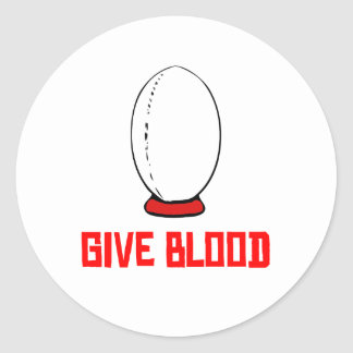 Give Blood Rugby Sticker