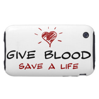 Give Blood Save A Life Tough iPhone 3 Cover