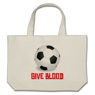 Give Blood (Soccer) Tote Bag