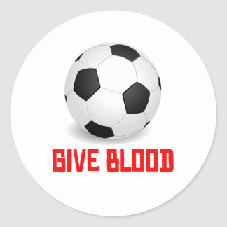 Give Blood Soccer Round Stickers