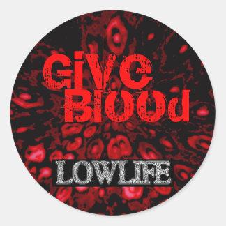 Give Blood Sticker. Classic Round Sticker