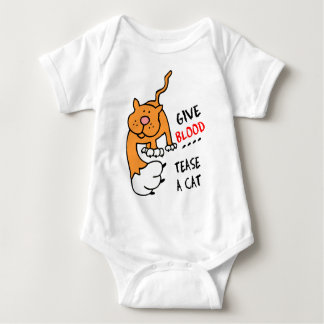 give blood tease a cat baby bodysuit