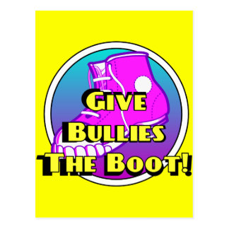 Give Bullies The Boot Product Postcard