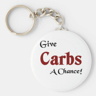 Give carbs a chance keychains