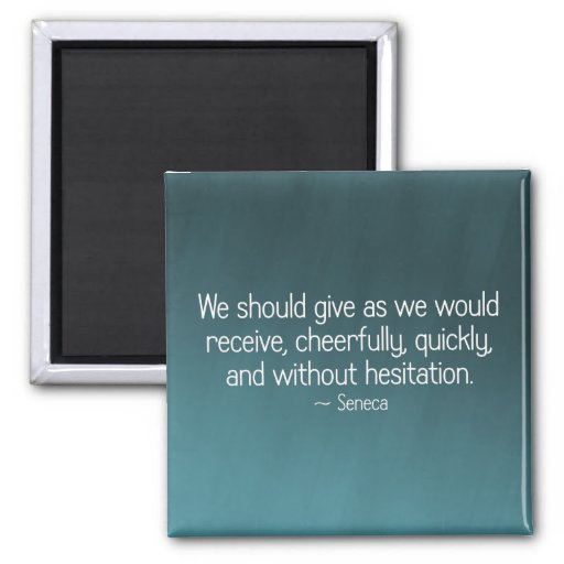 Give cheerfully and without reservation (2) 2 inch square magnet