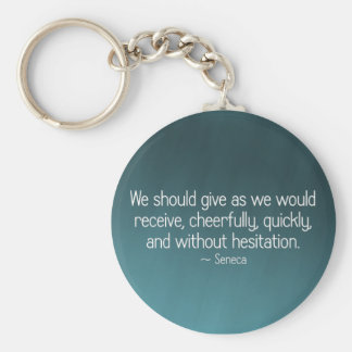Give cheerfully and without reservation (2) keychain