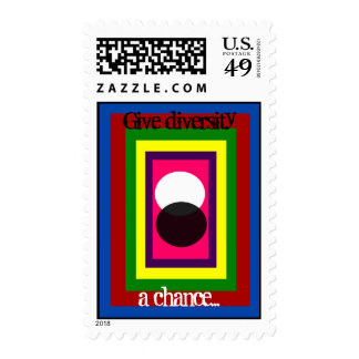 Give Diversity A Chance Multi Color Postage Stamps