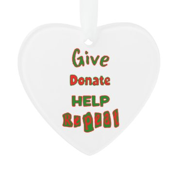 give, donate, help, repeat ornament