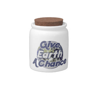 Give EARTH a Chance Candy Jar