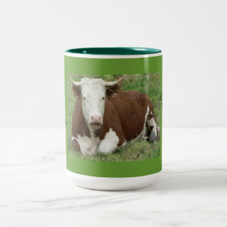 Give 'Em the Bird For Thanksgiving! Two-Tone Coffee Mug