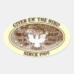 Give Em the Bird Toolbox Sticker