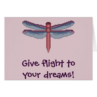 Give flight to your dreams! Dragonfly Notecard