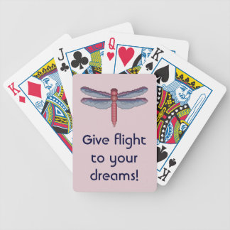 Give Flight to Your Dreams Dragonfly Playing Cards