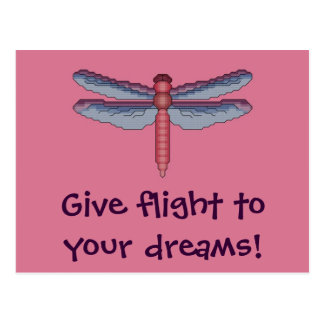 Give Flight to Your Dreams! Dragonfly Postcard