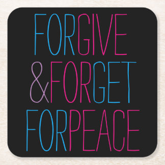 Give for Peace Square Paper Coaster