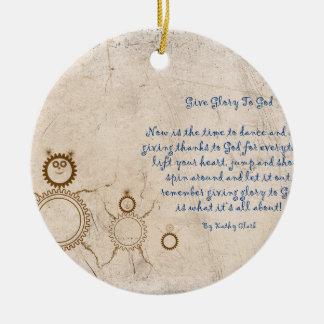 Give Glory To God Ceramic Ornament