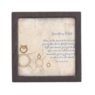 Give Glory to God Poem by Kathy Clark Gift Box