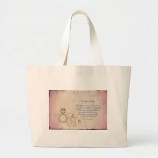 Give Glory to God Poem by Kathy Clark Large Tote Bag