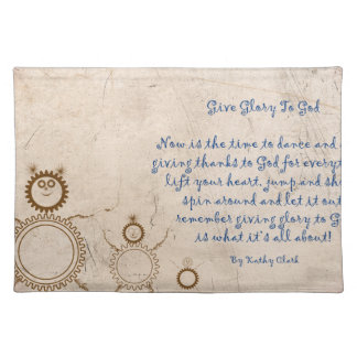 Give Glory to God Poem by Kathy Clark Placemat