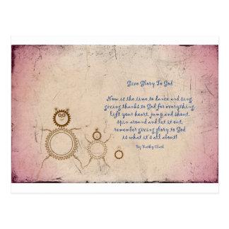 Give Glory to God Poem by Kathy Clark Postcard