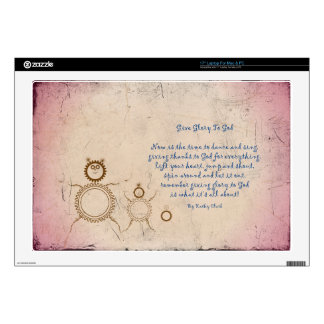 Give Glory to God Poem by Kathy Clark Skin For Laptop