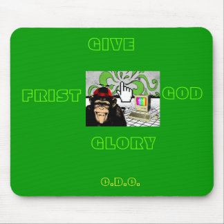GIVE GOD THE GLORY MOUSE PAD- RETRO STYLE
