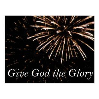give God the Glory Postcard