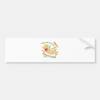 Give Gratitude Bumper Sticker