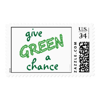 give GREEN a chance Postage