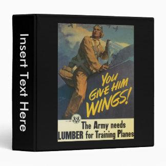 Give Him Wings World War 2 3 Ring Binder