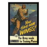 Give Him Wings World War 2 Personalized Invitation