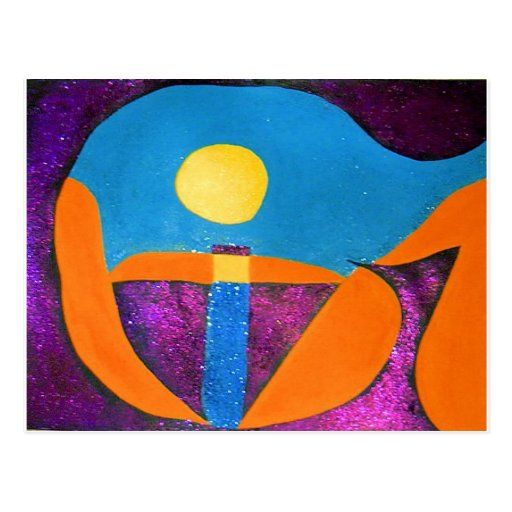 GIVE in abstract word art Postcard