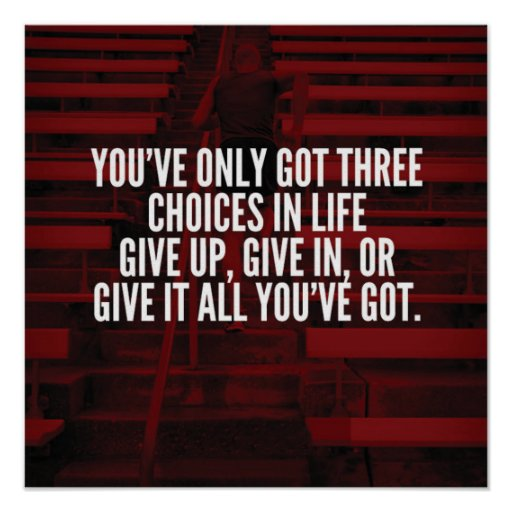 Give It All You've Got - Workout Motivational Poster