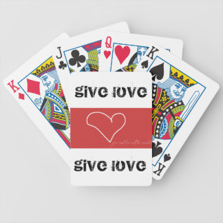 Give Love Bicycle Playing Cards