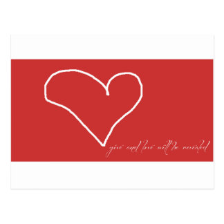 Give Love Postcard