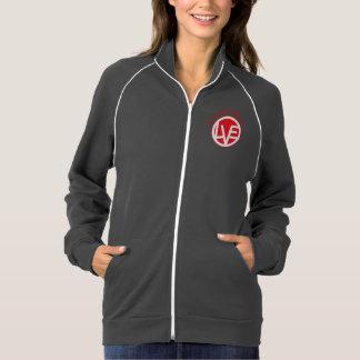 Give Love Women's Zip up American Apparel Fleece Track Jacket