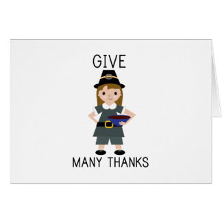 Give Many Thanks Card
