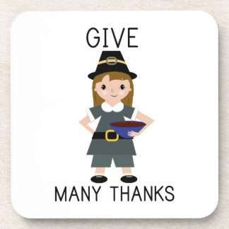 Give Many Thanks Drink Coasters
