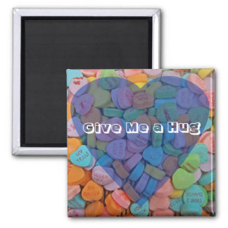 Give Me a Hug 2 Inch Square Magnet