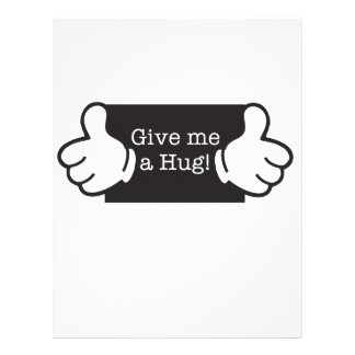 Give me a hug papel de carta