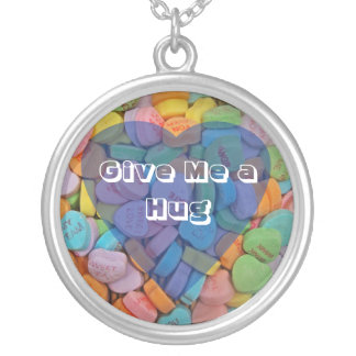 Give Me a Hug Round Pendant Necklace