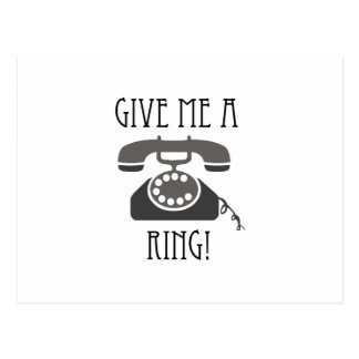 Give Me A Ring! Postcard