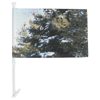 Give Me A Tree Full of Snow Car Flag