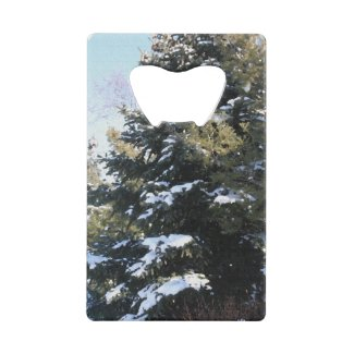 Give Me A Tree Full of Snow Credit Card Bottle Opener