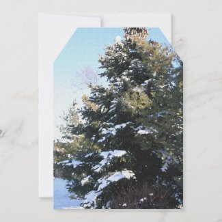 Give Me A Tree Full Of Snow Flat Card