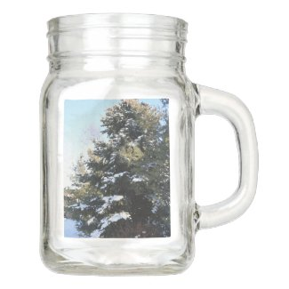 Give Me A Tree Full Of Snow Mason Jar