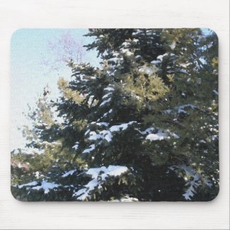 Give Me A Tree Full of Snow Mouse Pad