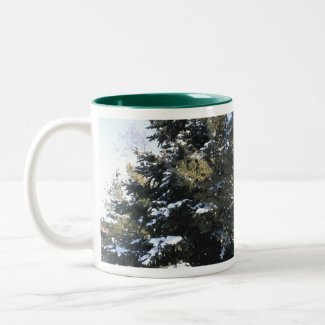 Give Me A Tree Full of Snow Two-Tone Coffee Mug