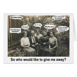 Give me Away? - FUNNY Card